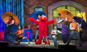 Elmo Dancing in the Rain